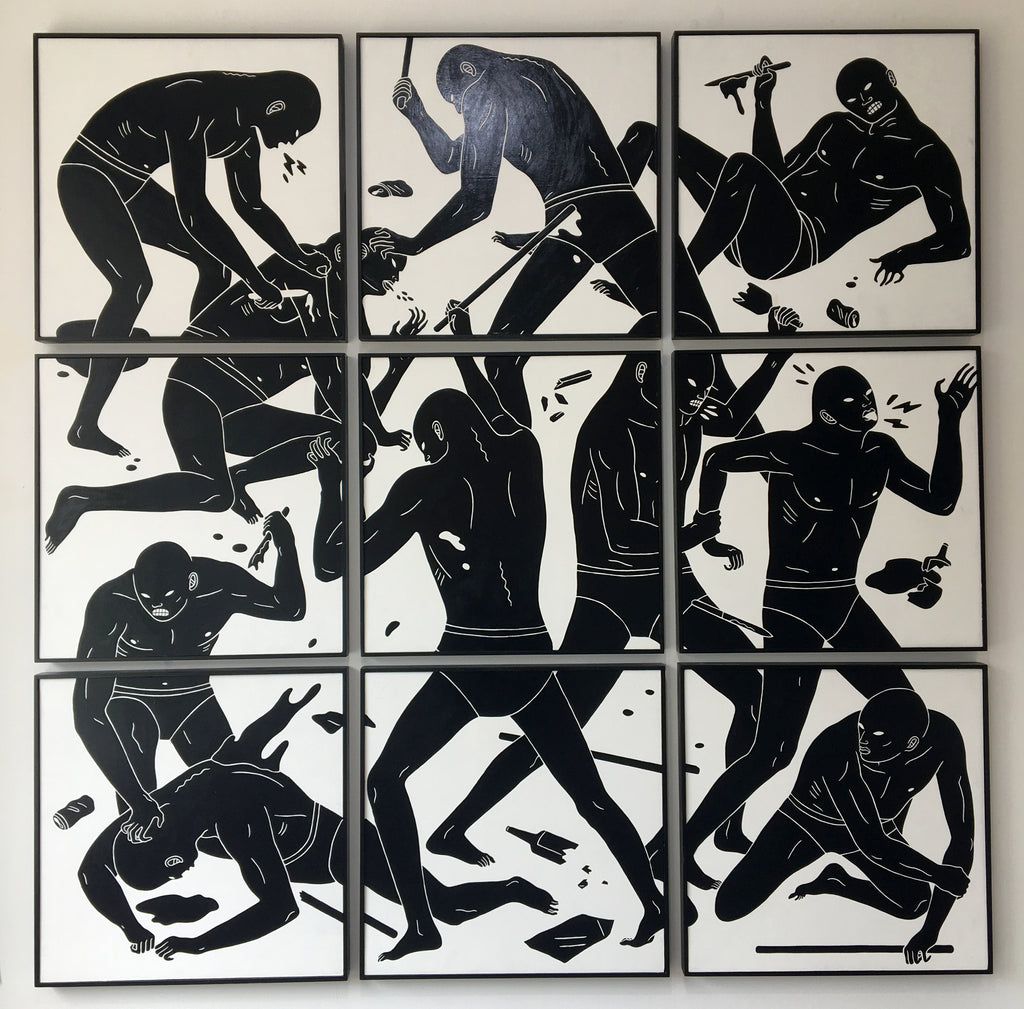 Cleon Peterson - The Practice Of Masters (Original 9-Panel Painting)