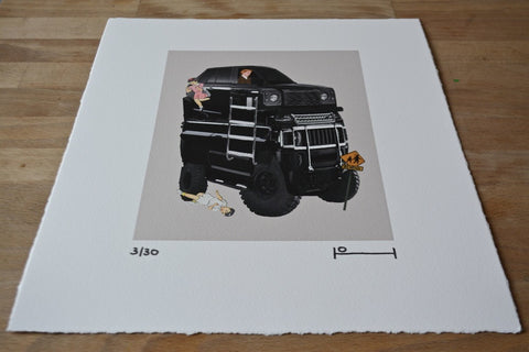 Oddly Head - Drop Off Signed Limited Edition Giclee Print