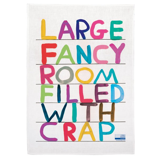 David Shrigley - Large Fancy Room (Tea Towel)