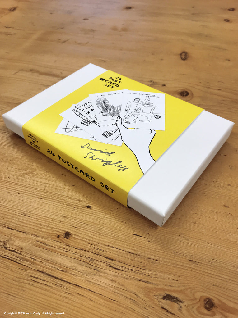 David Shrigley - Box of 24 Postcards