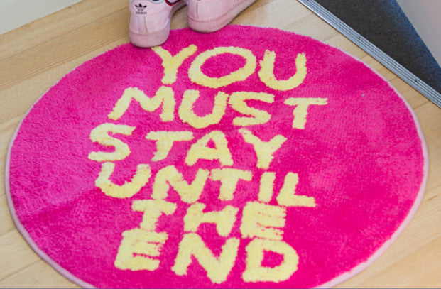 David Shrigley - You Must Stay Until The End Floor Mat