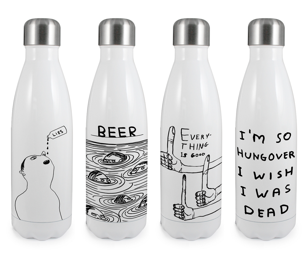 David Shrigley - Thermal Water Bottle (Reusable)