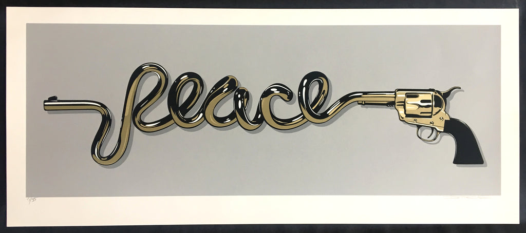 D*Face - Peace Gun Gold Signed Rare Screenprint