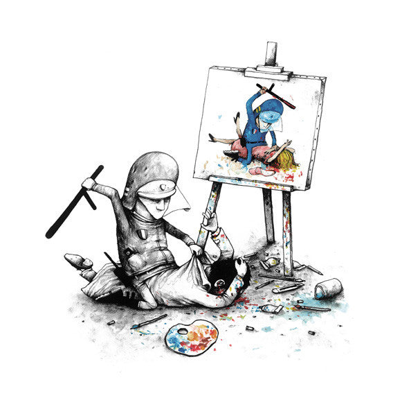 Dran - Free Speech - Signed Giclee Print