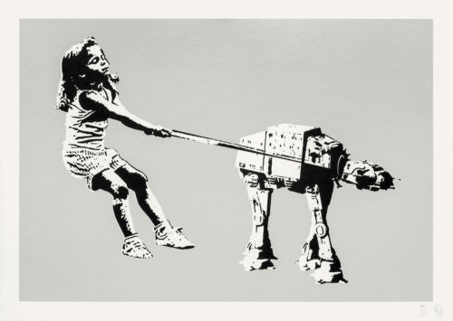 Eelus - Shat-At Star Wars Signed Screenprint - Grey