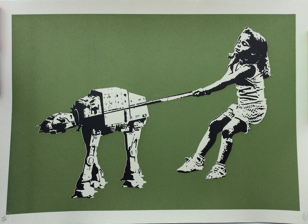 Eelus - Shat-At Star Wars Signed Screenprint - Olive