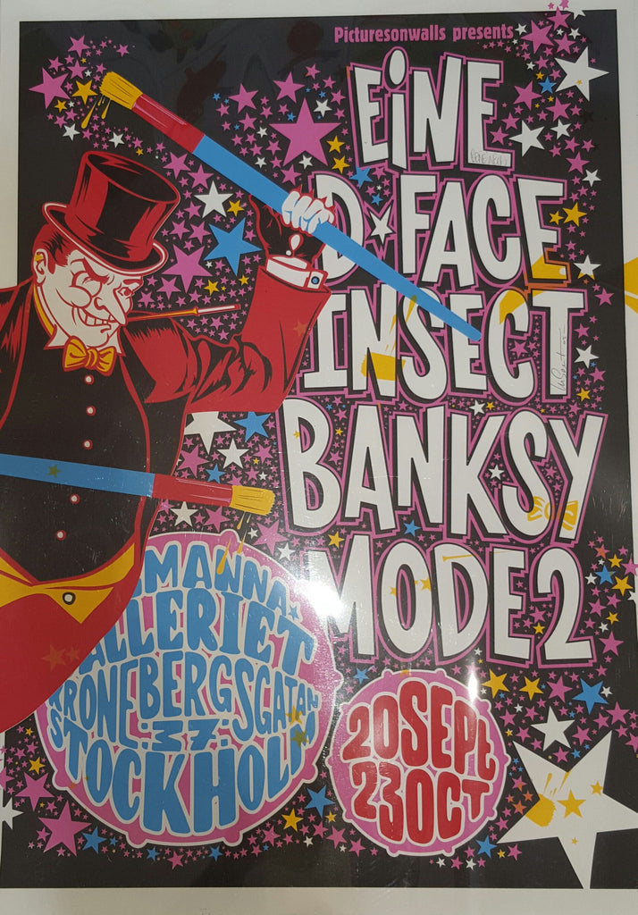 Banksy / Eine / Insect / Mode2 / D*Face - Stockholm Exhibition Screenprint