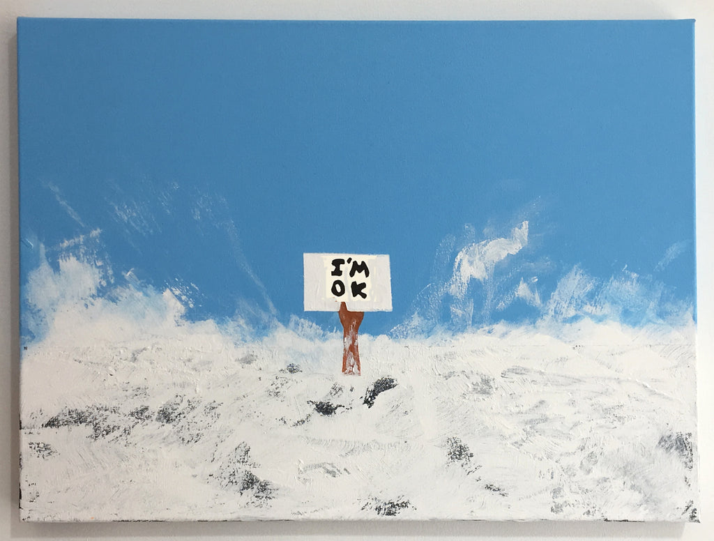 Euan Roberts - I'm OK Signed Original Canvas Painting