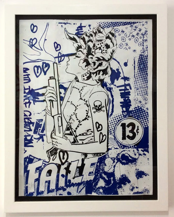 Faile - Smoking Silence - Rare Signed Print Screenprint