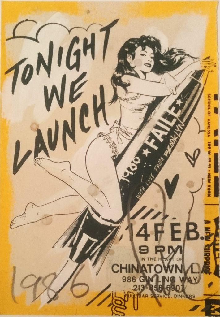 Faile -  Tonight We Launch - Signed Print / Screenprint