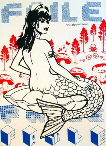 Faile - Mermaid / Marmaid - Unsigned Pictures On Walls Screenprint