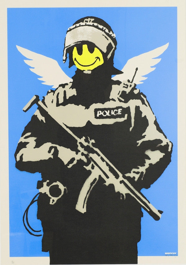 Banksy - Flying Copper - Signed Print / Screenprint