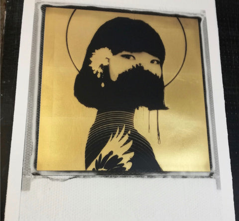 Andrew Millar - Fulfilled - Signed Artist Proof Gold Leaf Polaroid Screenprint