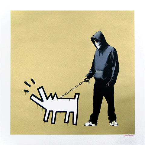 Banksy - Choose Your Weapon (Gold) (Signed)