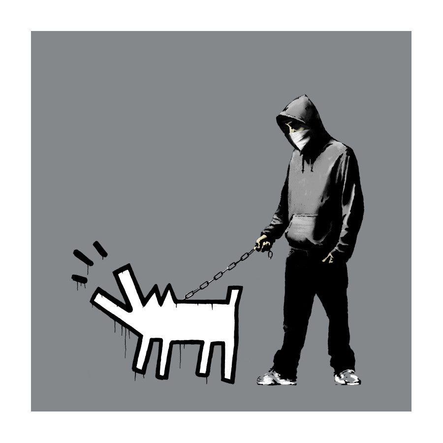Banksy - Choose Your Weapon Grey - Signed Keith Haring Print / Screenprint with COA