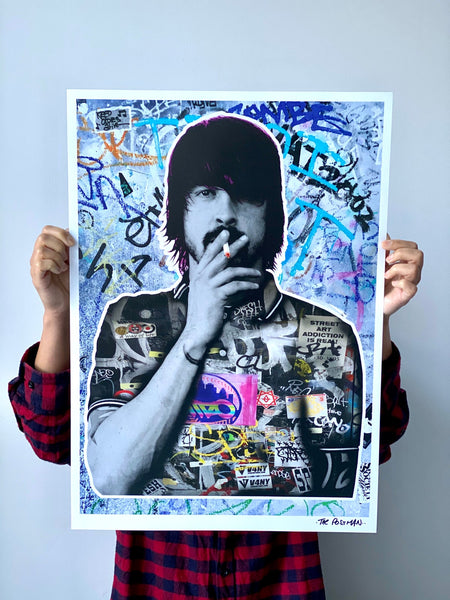 The Postman - Dave Grohl / Foo Fighters / Nirvana - Signed Print