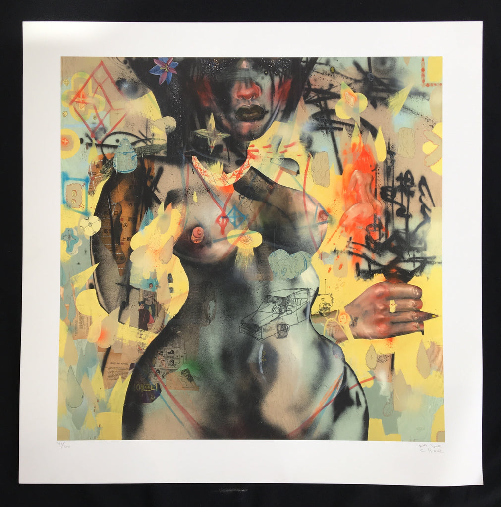 David Choe - Diamond, Ass,  Chocolate, Tits, Flowers, Driving Home Alone - Signed Limited Edition Print