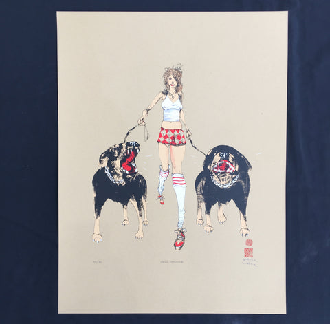 David Choe - Hell Houndz - Signed Limtited Edition Print