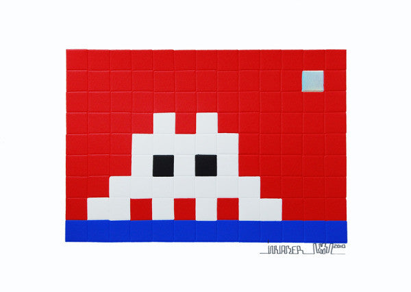 Space Invader - Home Neptune - Signed Print / Screenprint POW Pictures On Walls