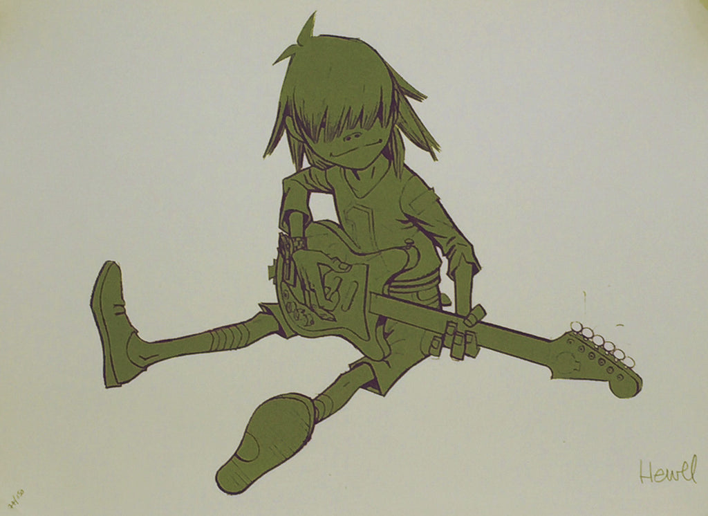 Jamie Hewlett - Noodle Gorillaz limited edition screen print