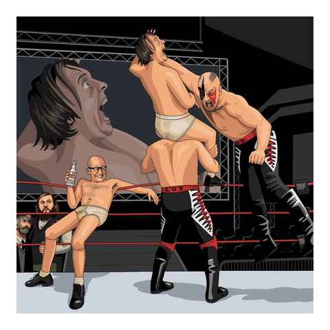 Jim'll Paint It - Eddie and Richie vs Legion of Doom - Signed Bottom Giclee Print