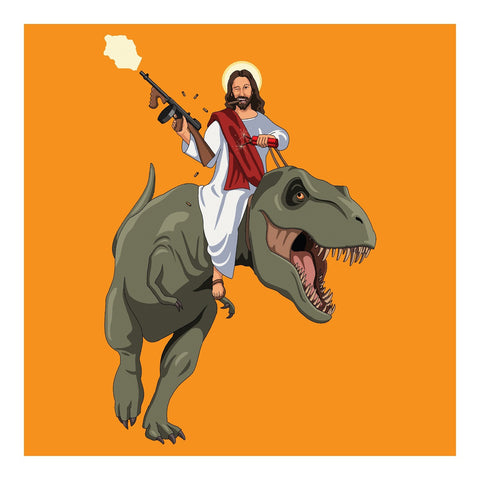 Jim'll Paint It - Jesus Returns XL Orange Signed Print