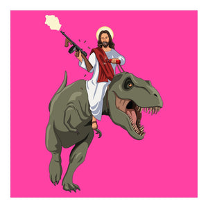 Jim'll Paint It - Jesus Returns Pink Signed Print