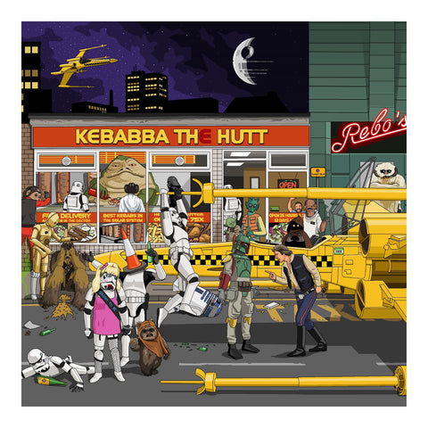 Jim'll Paint It - Kebabba The Hutt Signed Limited Edition Print