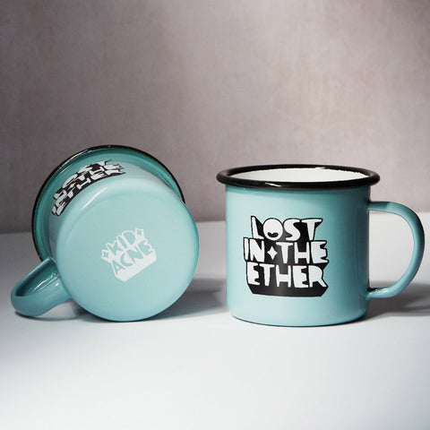 Kid Acne - Lost In The Ether - Limited edition enamel mug (Light Blue)
