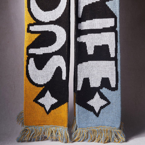 Kid Acne - Such Is Life - Limited edition scarf (Mustard Yellow/Dusty Blue)