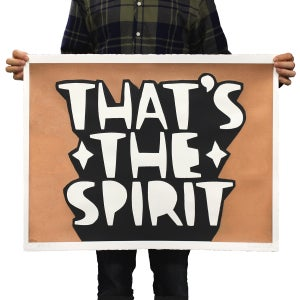 Kid Acne - That's the Spirit- Copper- Print