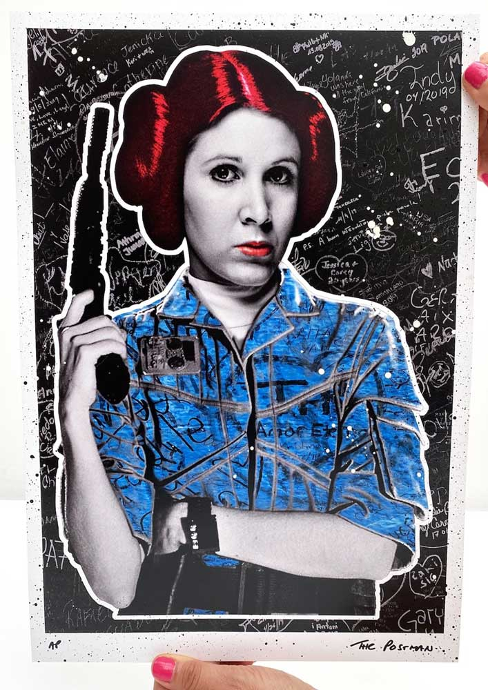 The Postman - Leia (A3 Hand-Finished Print)