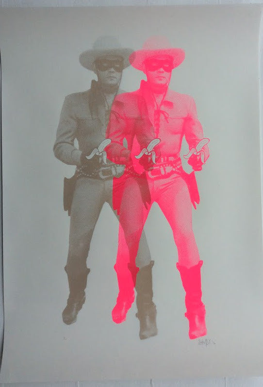 Shuby - Lone Ranger Banana Guns Unique Print Signed Screenprint