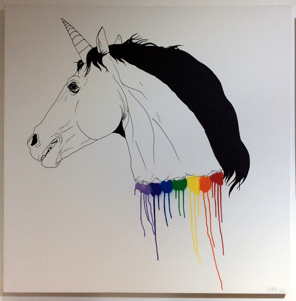 Lush - Unicorn Head (1m x 1m Canvas)