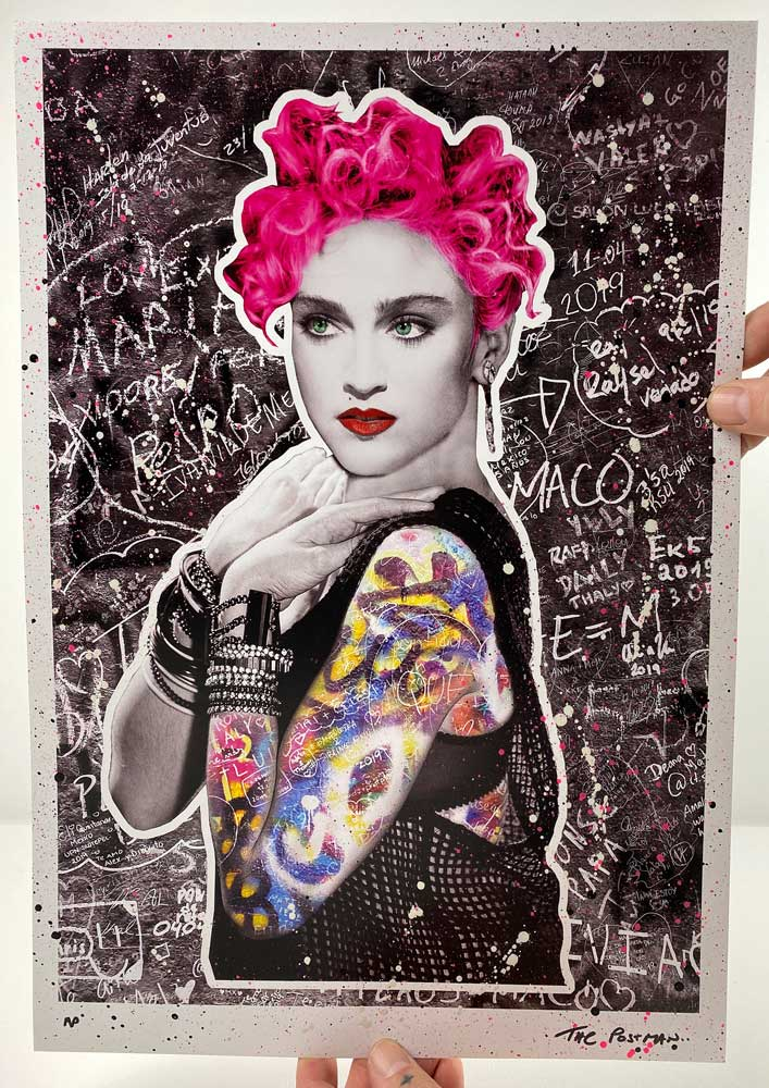 The Postman - Madonna (A3 Hand-Finished Print)