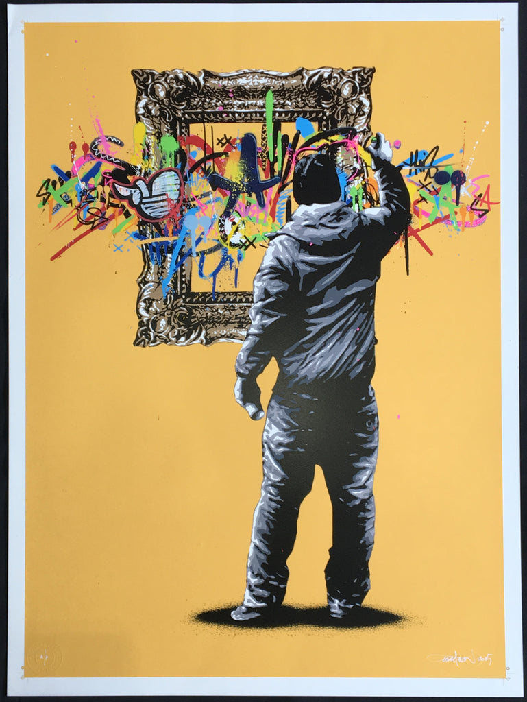 Martin Whatson - Framed (Yellow Artist Proof) Signed Screenprint