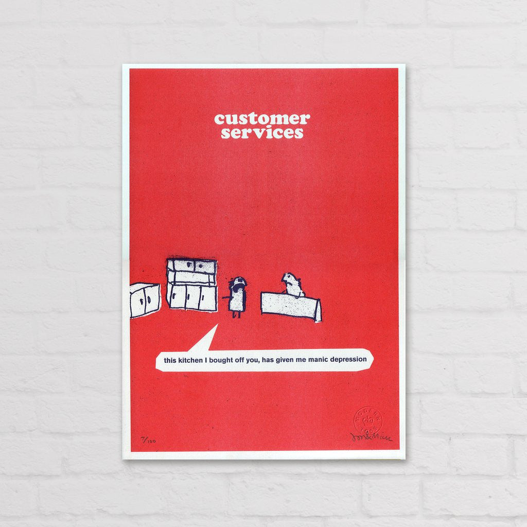 Modern Toss - Signed Limited Edition Print Work Kitchen