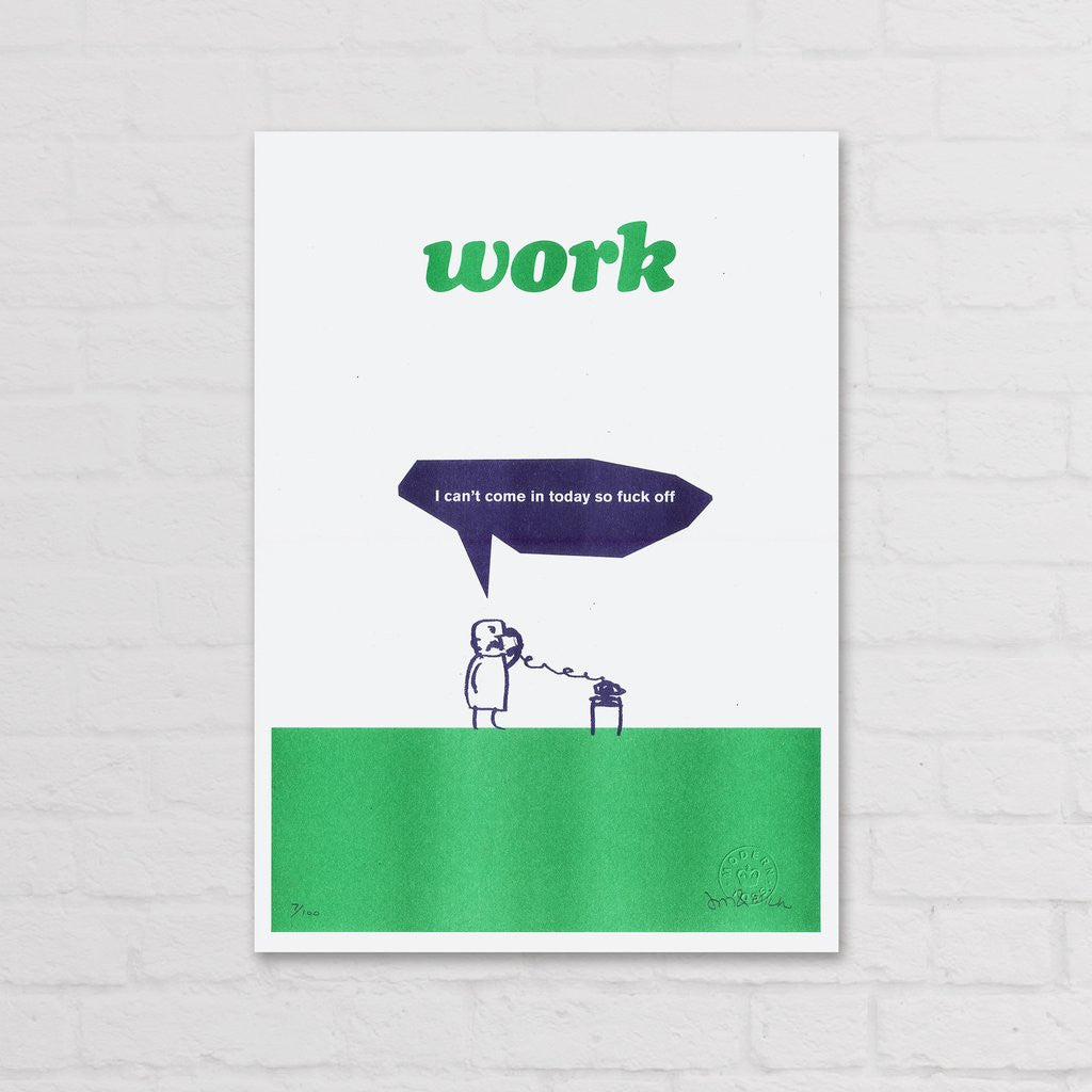 Modern Toss - Signed Limited Edition Print Work Fuck Off