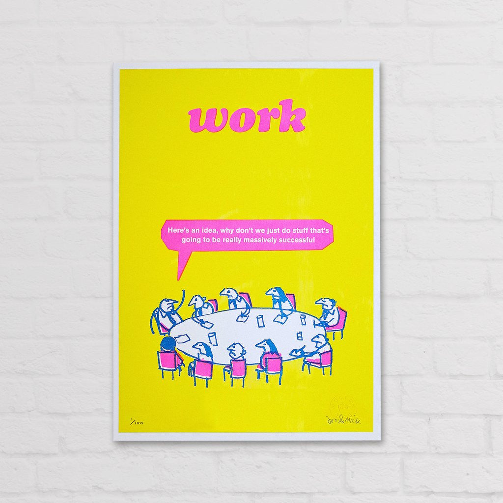 Modern Toss - Signed Limited Edition Print Work Successful Idea