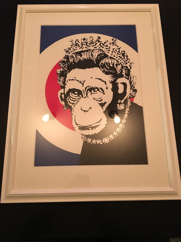 Banksy - Monkey Queen Unsigned Screenprint / Print