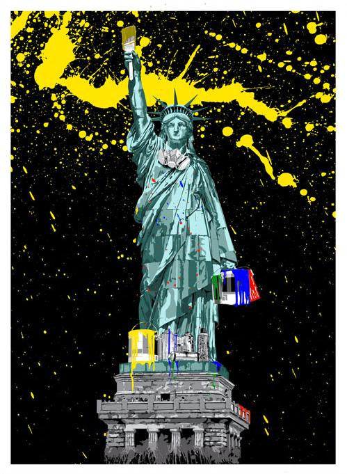 Mr Brainwash Liberty screen print signed artist proof