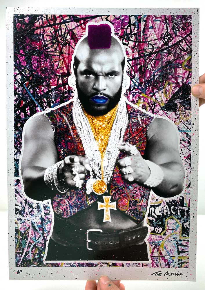 The Postman - Mr T (A3 Hand-Finished Print)