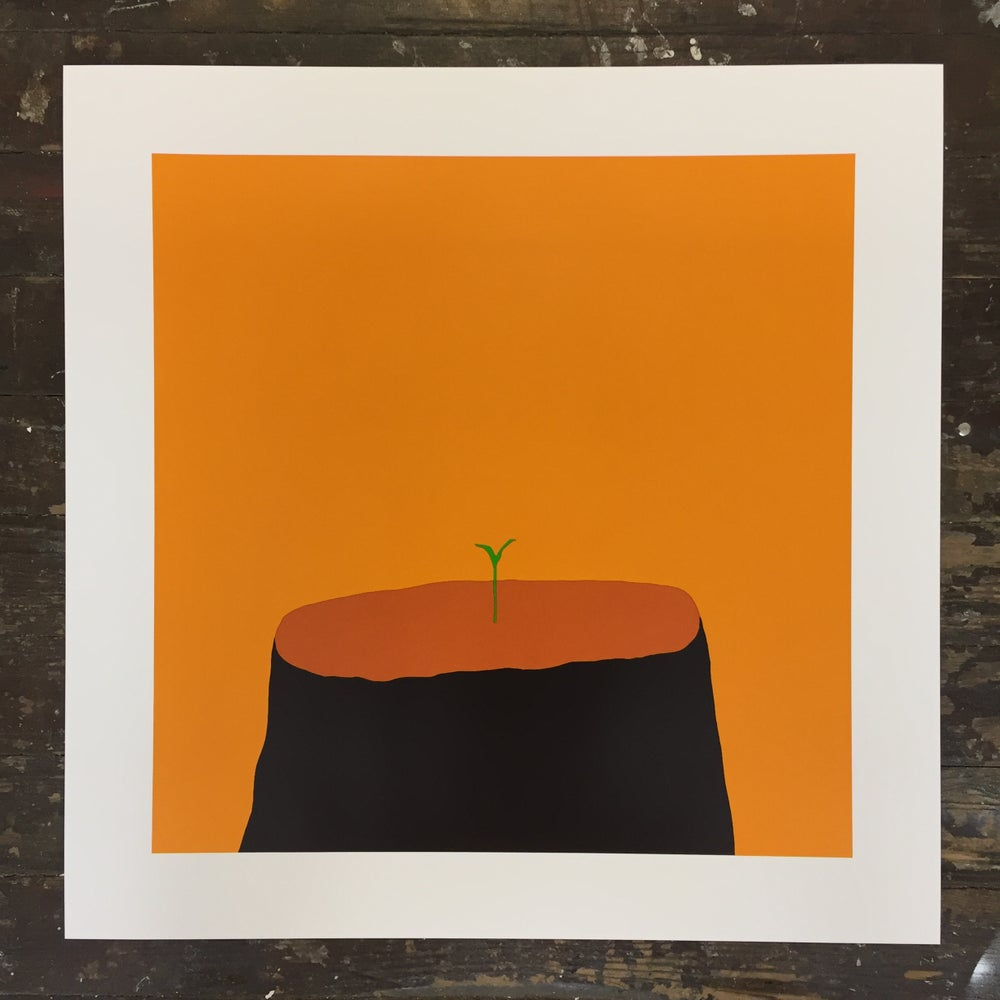 Euan Roberts - New Beginnings - Mango - Screen Print
