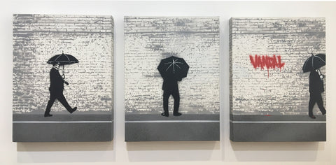 Nick Walker - Vandal Triptych (Original Unique Canvas Triptych)