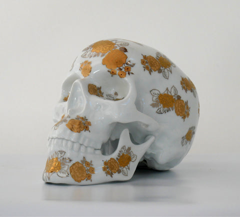 NOON - Skull Gold Flowers