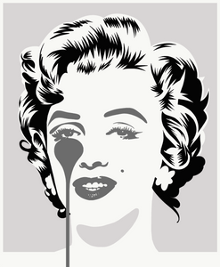 Pure Evil -  Marilyn - Silver and Black Print