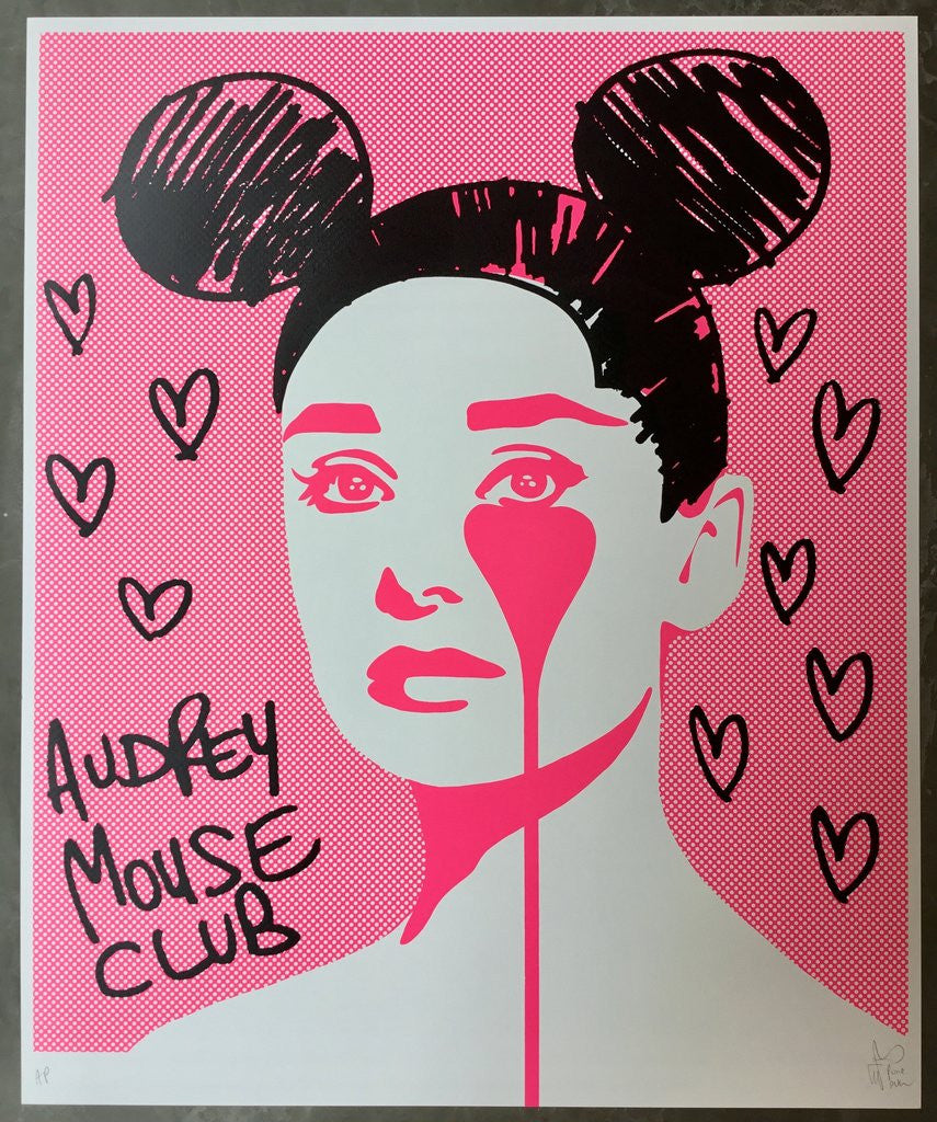 Pure Evil Signed Screen Print Audrey Mouse Club