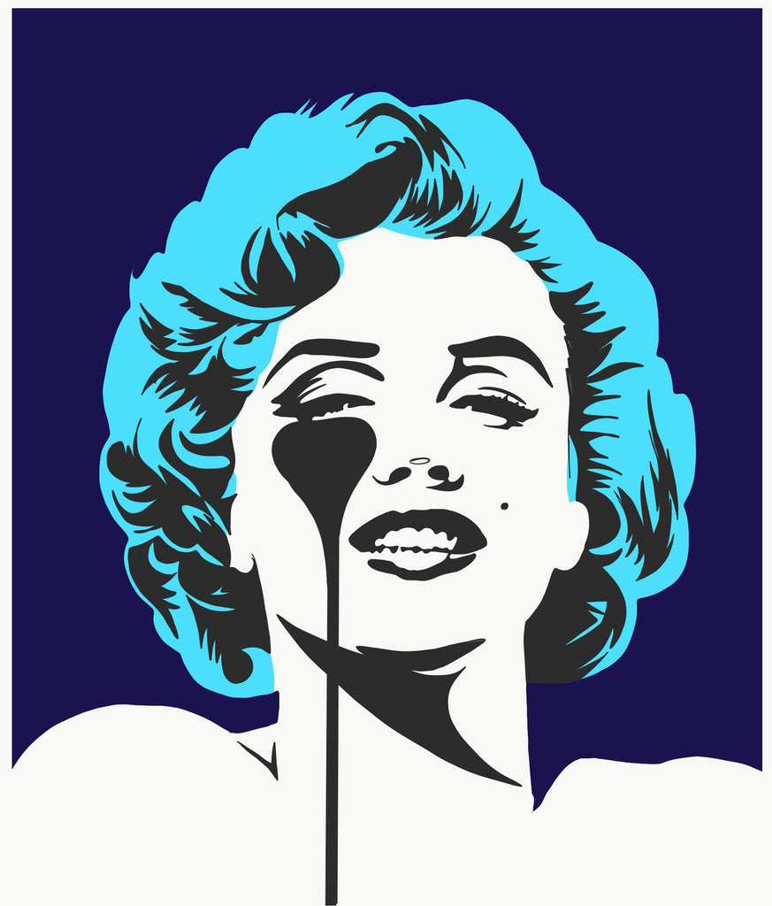 Pure Evil - I Dream Of Marilyn (Glacier Blue Hair) - Signed Marilyn Monroe Print