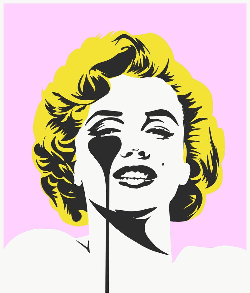Pure Evil - I Dream Of Marilyn (Golden Yellow Hair) - Signed Marilyn Monroe Print
