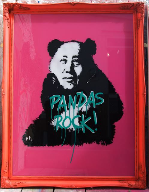Pure Evil - Pandas Rock - Large Original Signed Canvas Piece